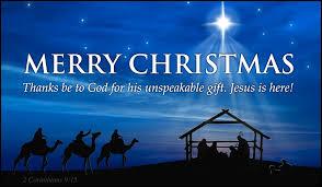 Merry Christmas! - Effort Christian School and Preschool